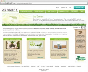 Dermify Site Go Green Page