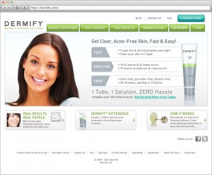 Dermify Site Home Page 1
