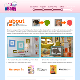 uBaby About Face Landing Page