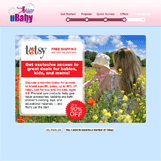 uBaby Totsy Landing Page